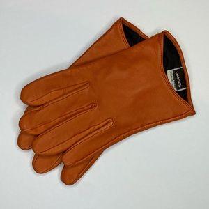 Danier Orange LEATHER driving gloves GUC